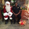 Santa and Officer Culp.