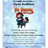 Pine Tree Playhouse Auditions Oct 2, 3 and 4