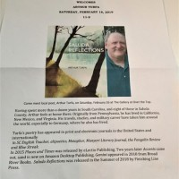 Local Poet Arthur Turfa Visits Over The Top Gallery